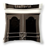 Trattoria Door Palm Springs Throw Pillow