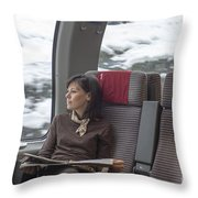 Travel In Train Throw Pillow