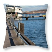 Travel Into Past Throw Pillow