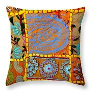 Travel Shopping Colorful Tapestry 9 India Rajasthan Throw Pillow