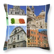Travel To Venice  Throw Pillow