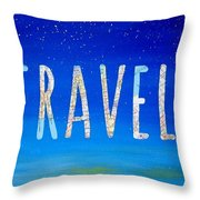 Travel Word Art Throw Pillow