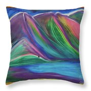 Travelers Mountains By Jrr Throw Pillow