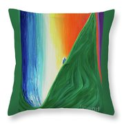 Travelers Rainbow Waterfall By Jrr Throw Pillow