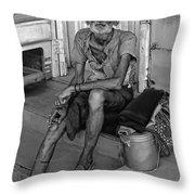 Travelin' Man Monochrome Throw Pillow