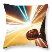 Traveling At Speed Of Light Throw Pillow
