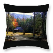 Traveling Back In Time Throw Pillow