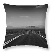 Traveling Down The Road Into The Mountains Throw Pillow