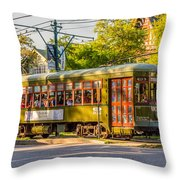 Traveling In New Orleans Throw Pillow