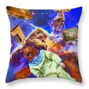 Traveling Light Throw Pillow