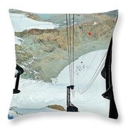 Traveling To The Top Throw Pillow