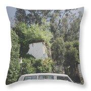 Travelling Vintage Wander Wolkswagen.  Throw Pillow