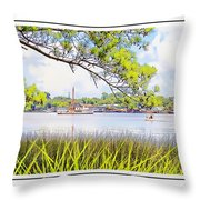 Trawler Waterscape Throw Pillow