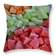 Tray Of Melon Chunks Art Prints Throw Pillow