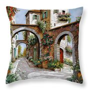 Tre Archi Throw Pillow by Guido Borelli