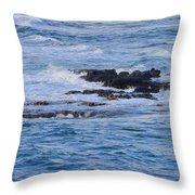 Treacherous Shorebreak Throw Pillow