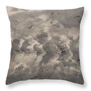 Tread On The Beach Throw Pillow