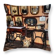 Treadle Sewing Machines Throw Pillow