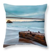 Treasure And The Golden Gate Bridge Throw Pillow by Sarit Sotangkur