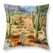 Treasures Of The Desert Throw Pillow