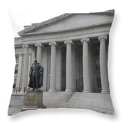 Treasury Department Washington Dc Throw Pillow