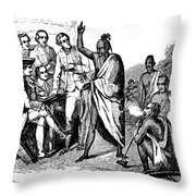 Treaty With Iroquois Indians Five Throw Pillow