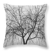Tree Abstract In Black And White Throw Pillow
