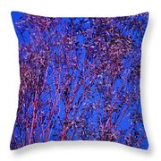 Tree Abstract Purple Blue  Throw Pillow