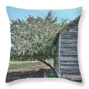 Tree And Building Throw Pillow
