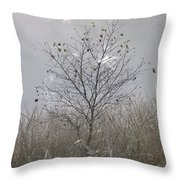 Tree And Cobwebs Throw Pillow