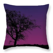 Tree And Coyote Throw Pillow