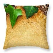 Tree Background Throw Pillow