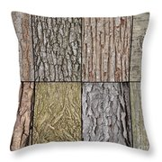 Tree Bark Throw Pillow