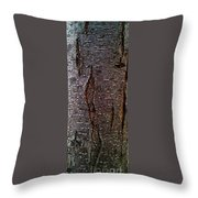 Tree Bark To The Left Throw Pillow