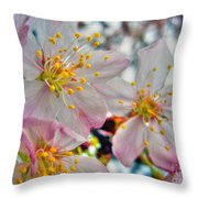Tree Blossom Throw Pillow