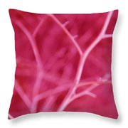 Tree Branches Abstract Hot Pink Throw Pillow