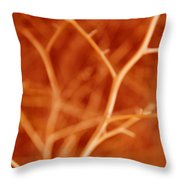 Tree Branches Abstract Orange Throw Pillow