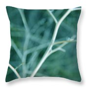 Tree Branches Abstract Teal Throw Pillow