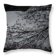 Tree Buds Throw Pillow