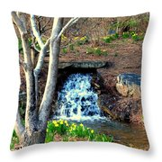 Tree By The Brook Throw Pillow