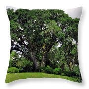 Tree By The River Throw Pillow