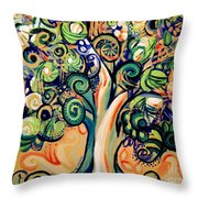 Tree Candy 2 Throw Pillow