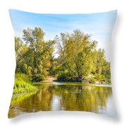 Tree Close To The River Throw Pillow