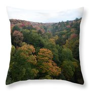 Tree Color Throw Pillow