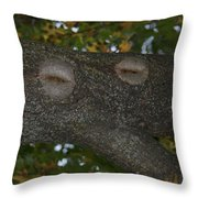 Tree Face 1 Throw Pillow
