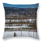 Tree Farm Throw Pillow