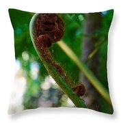 Tree Fern Throw Pillow