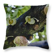 Tree Flowers Throw Pillow