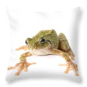 Tree Frog Ready To Jump Throw Pillow