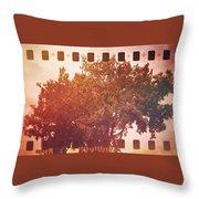 Tree Grunge Vintage Analog Film Throw Pillow
